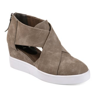 Link to Journee Collection Women's 'Seena' Athleisure Criss-cross D'orsay Sneaker Wedges Similar Items in Women's Shoes