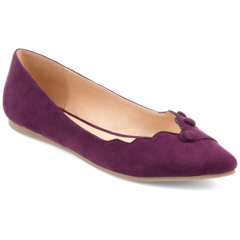 Journee Collection Women's 'Mila' Scalloped Button Flats