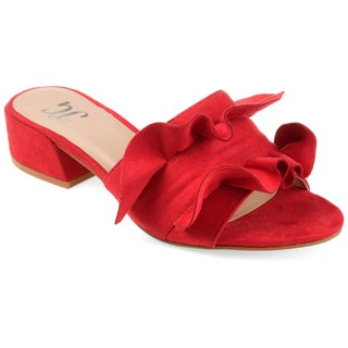 Journee Collection Women's 'Sabica' Slide-on Ruffle Mules (More options available)