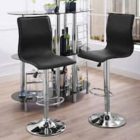 Home Source Alexander Black Faux Leather Gas Lift Bar Stool