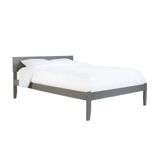 Orlando King Platform Bed with Open Foot Board in Atlantic Grey