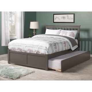 Atlantic Furniture Mission Grey Full with Twin Trundle Platform Bed