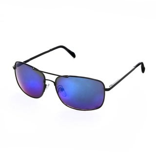 Hot Optix Mens Metal Mirrored Rectangular Sunglasses