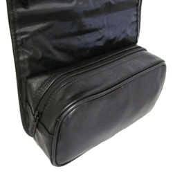 Amerileather Black All-leather Travel Kit