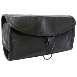 Amerileather Black All Leather Travel Kit Free Shipping