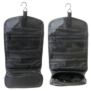 Amerileather Black All-leather Travel Kit