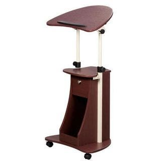 Urban Designs Sit To Stand Rolling Adjule Laptop Cart With Storage