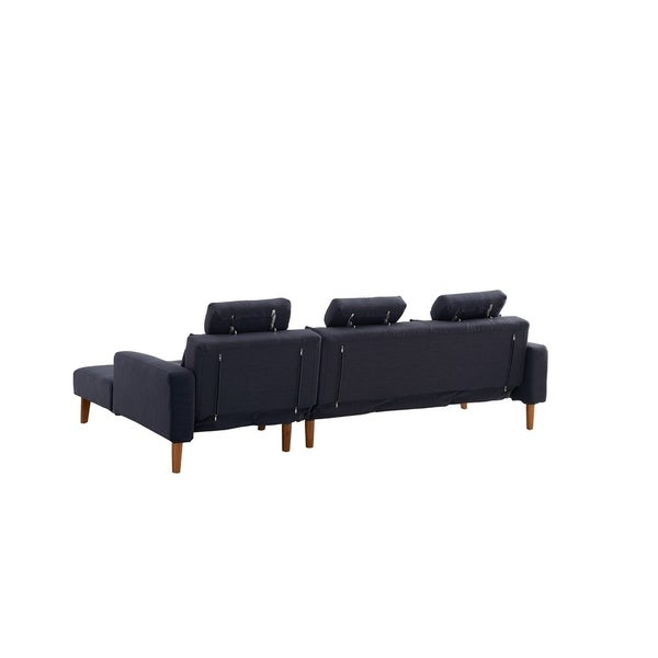 Luca Home Modern Vincent Right Sleeper Sectional