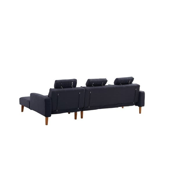 Shop Luca Home Modern Vincent Right Sleeper Sectional - Free ...