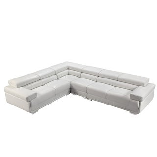 Luca Home Reversible White Sectional