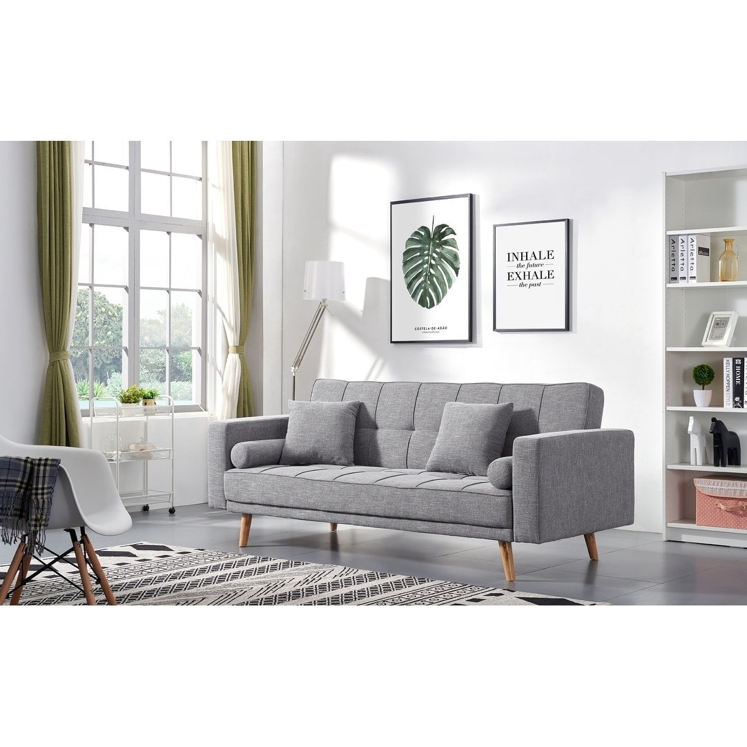 Luca Home Alex Scandinavian Style Sofa Bed