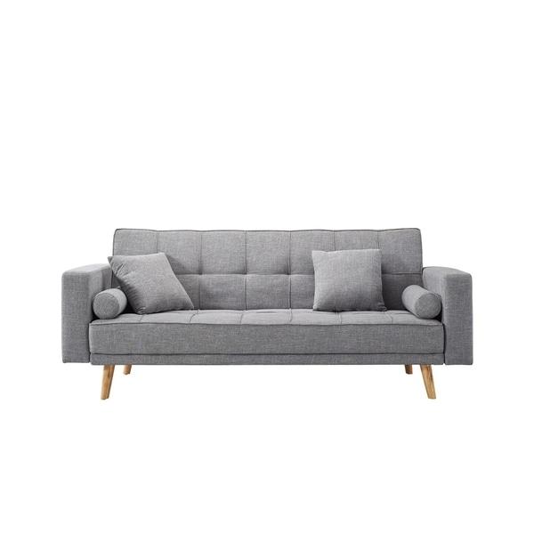 Luca Home Alex Scandinavian Style Sofa Bed
