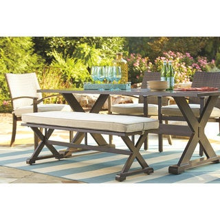 Signature Design by Ashley Moresdale Brown Dining Bench with Cushion