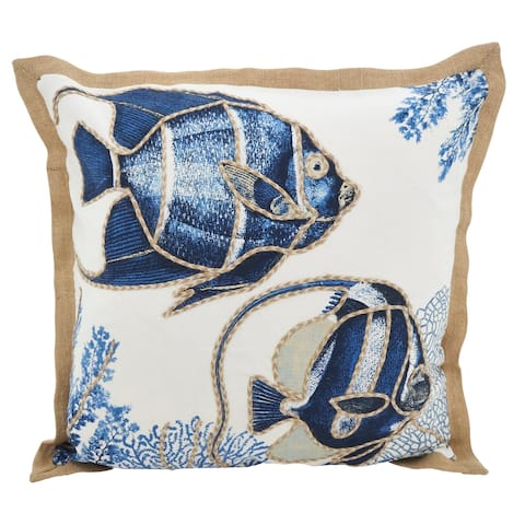 Go Fish Down Filled Throw Pillow