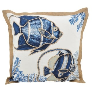 Link to Go Fish Down Filled Throw Pillow Similar Items in Decorative Accessories