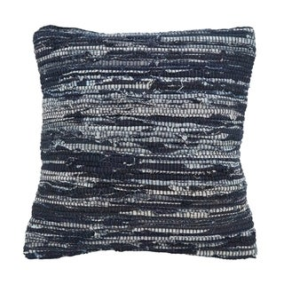 Down Filled Throw Pillow With Chindi Rag Design