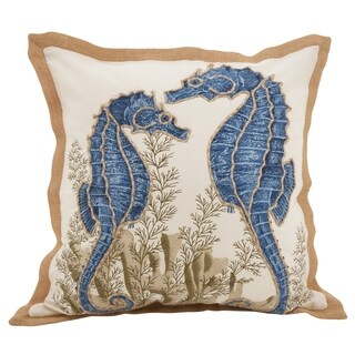 Seahorse Filled Cotton Down Filled Throw Pillow