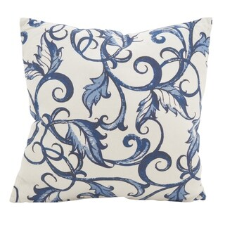 Scrolling Vines Cotton Poly Filled Throw Pillow