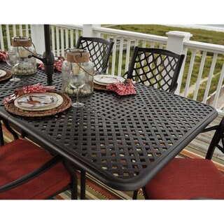 Gracewood Hollow Bannerji Brown Outdoor Rectangular Extension Dining Table