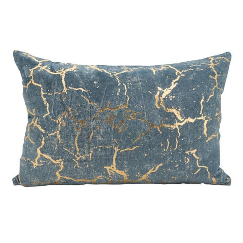 Foil Fragment Accent Down Filled Throw Pillow