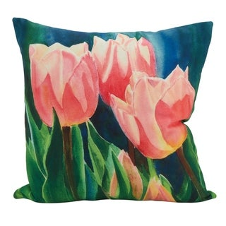 Tulip Island Filled Poly Filled Throw Pillow