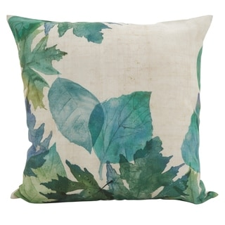 Watercolor Leaf Down Filled Throw Pillow