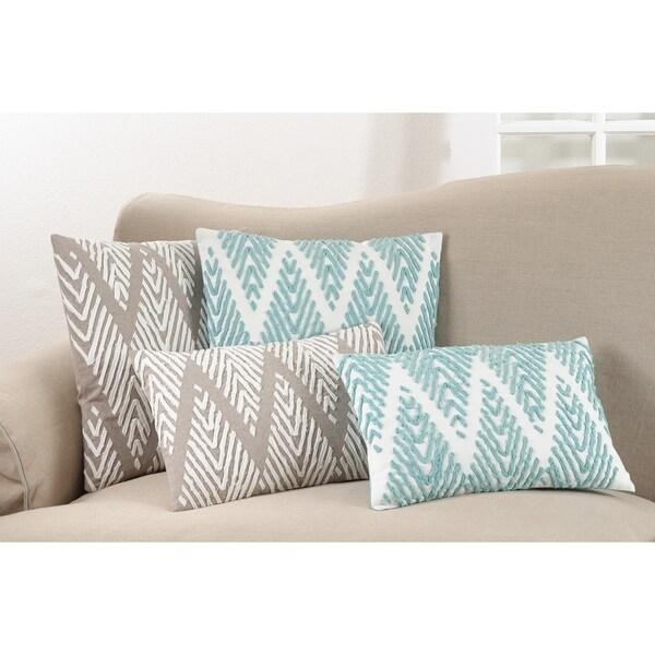 Down Filled Chevron Stitched Throw Pillow