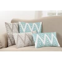Down Filled Chevron Stitched Throw Pillow