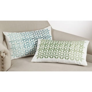 Ombre Mosaic Embroidery Down Filled Throw Pillow