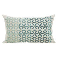 Mosaic Embroidery Down Filled Throw Pillow