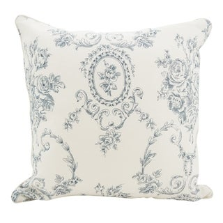 Floral Story Linen Down Filled Throw Pillow