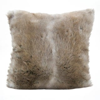 Furry Poly Filled Throw Pillow