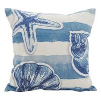 Watercolor Sea Stripe Down Filled Throw Pillow