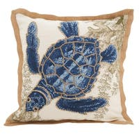 Sea Turtle Filled Down Filled Throw Pillow