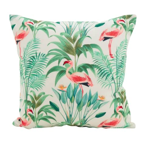 Flamingo Island Statement Poly Filled Throw Pillow