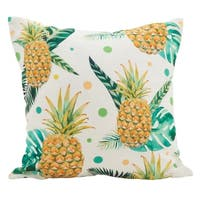 Pineapple Toss Poly Filled Throw Pillow