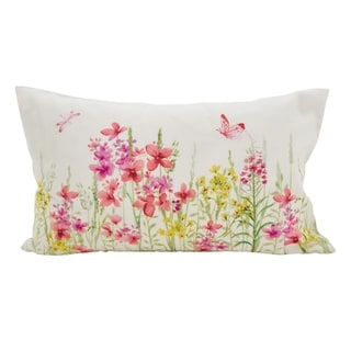 Floral Fields Accent Down Filled Throw Pillow