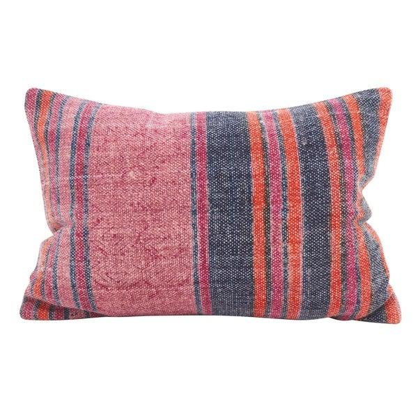 Shop Boho Stripes Down Filled Throw Pillow