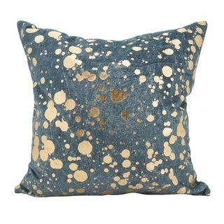 Foil Spattered Square Down Filled Throw Pillow