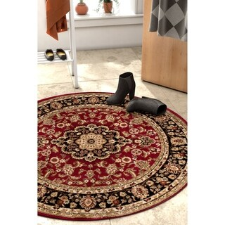 Well Woven Gwalia Traditional Persian Medallion Round Rug - 3'10