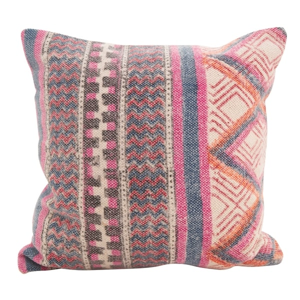 Bohemian Mix Square Down Filled Throw Pillow