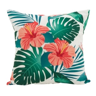 Island Palms Statement Poly Filled Throw Pillow