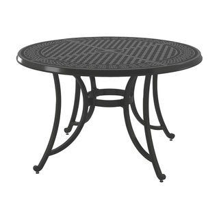 Gracewood Hollow Bannerji Brown Outdoor Round Dining Table with Umbrella Option