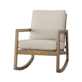 Novelda Vintage Beige Rocking Accent Chair