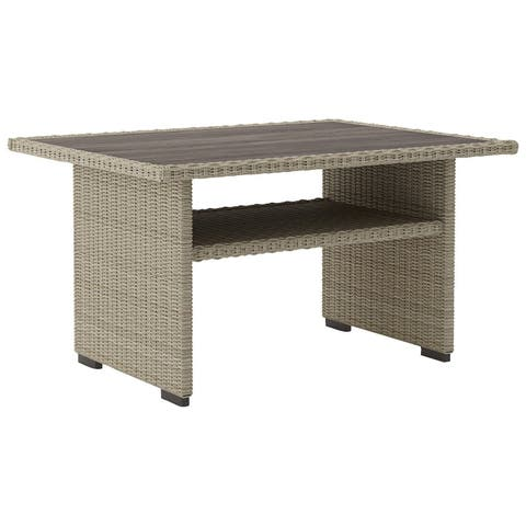 Silent Brook Outdoor Coffee Dining Table - Beige
