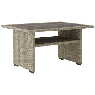 Signature Design by Ashley Silent Brook Beige Outdoor Multi Use Wicker Dining Table