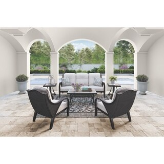 Signature Design by Ashley Marsh Creek Brown Outdoor Rectangular Coffee Table with Porcelain Top