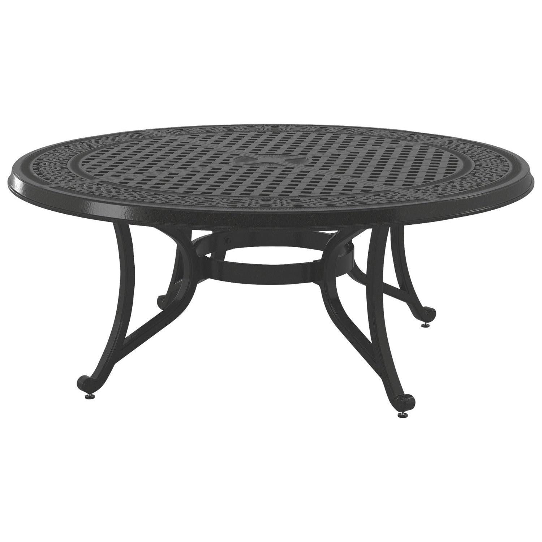 Signature Design By Ashley Burnella Dark Brown Outdoor Round Coffee Table