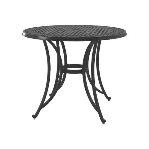 Signature Design by Ashley Burnella Dark Brown Outdoor Round Bar Table