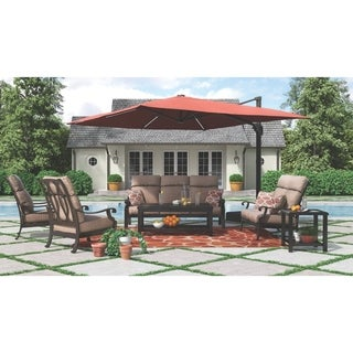Castle Island Dark Brown Outdoor Square End Table